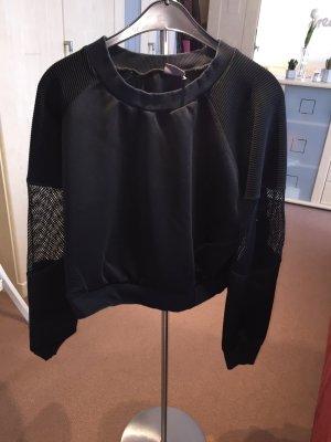 Sweatshirt mit Netzärmeln