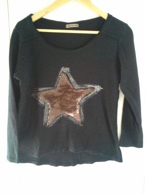 Sweatshirt mit Pailettenstern