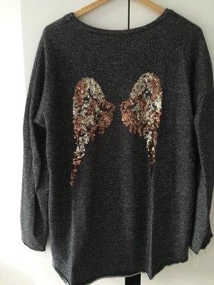 Sweatshirt mit Pailletten * Gr. L * Gina Tricot