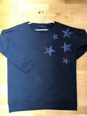 Sweatshirt mit Paillettenmuster in Gr. L