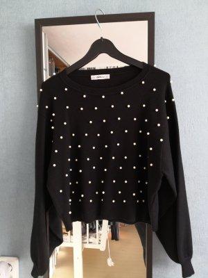 Sweatshirt mit Perlen Zara