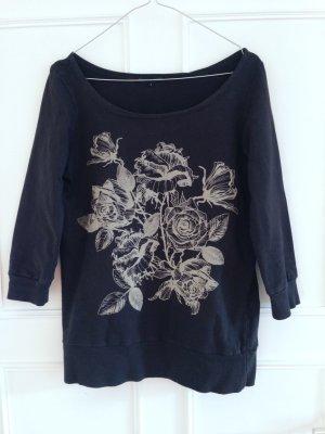 Sweatshirt mit Rosenmotiv