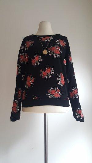 Sweatshirt mit Rosenmuster