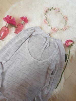 sweatshirt mit rückenauschnitt & schleife