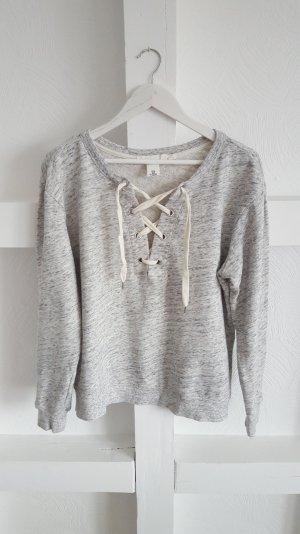 Sweatshirt mit Schnürung Gr. M