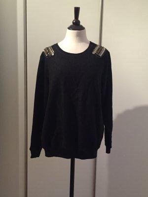 Sweatshirt mit Schulterdekoration