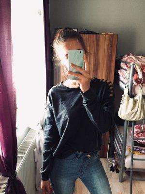 Sweatshirt mit Schulterverzierung