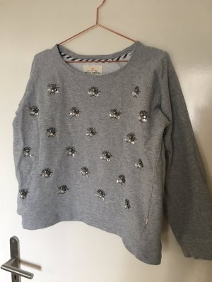 Sweat gris-gris clair coton