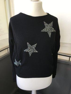 Sweatshirt mit Strass Sternen