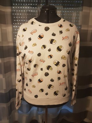 Sweatshirt mit Sushi Print