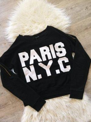 Sweatshirt Paris Nyc schwarz weiß