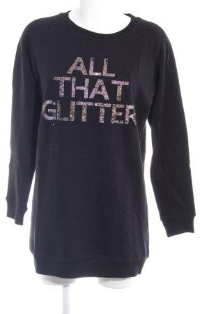 Sweatshirt platzierter Druck Casual-Look