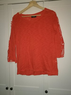 Sweatshirt Polluver shirt orange-rot Gr.,40