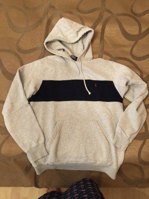 Polo Ralph Lauren Hooded Sweater light grey-dark blue