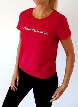 Armani Exchange Felpa rosso lampone