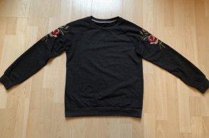 Sweatshirt Pullover Pulli mit Rosenmotiv