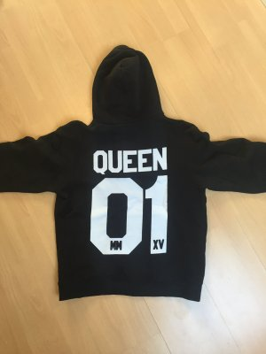 Sweatshirt QUEEN schwarz in Gr. S