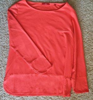 s.Oliver Sweat Shirt neon orange mixture fibre