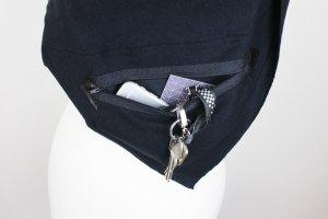 Sweatshirt-Schal Dreieckstuch mit Geheimfach schwarz NEU Unisex