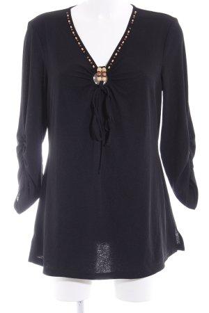 Sweatshirt noir style décontracté