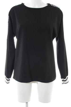 Sweatshirt schwarz Casual-Look