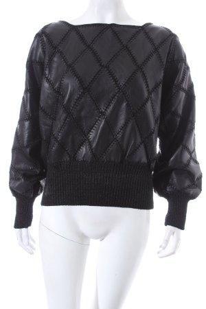 Sweatshirt schwarz extravaganter Stil