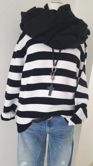 Sweatshirt schwarz/weiß Gr. L