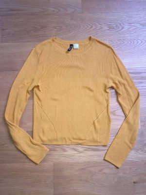 Sweatshirt Senfgelb H&M