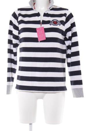 Suéter estampado a rayas estilo naval