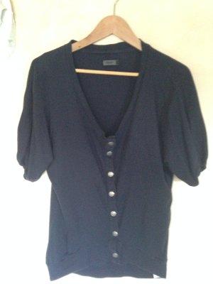 Sweatshirt / Strickjacke dunkelblau kurzarm Gr. M