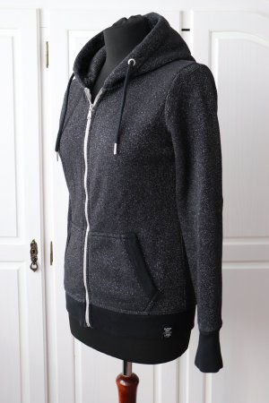 Superdry Sweat Jacket black-silver-colored