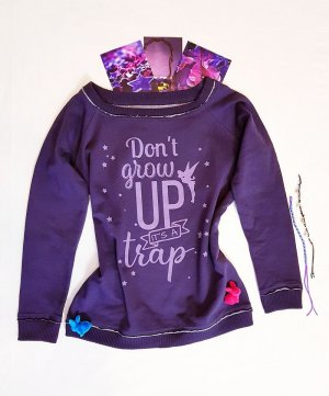 Sweatshirt Trendfarbe lila original Disnep neu S M
