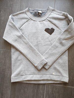 Bench Sweatshirt grijs-zilver Gemengd weefsel