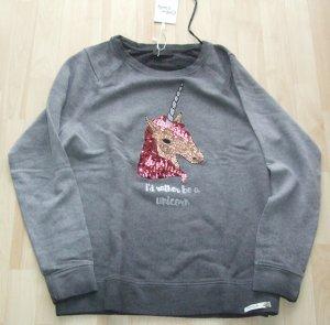 Sweatshirt von Cotton Candy mit Pailletten-Einhorn