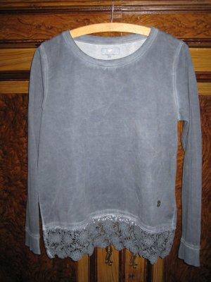 Sweatshirt von Lieblingsstück mit Häkelspitze Gr. L, Gr. 40