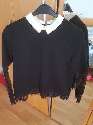 Summum Suéter negro-blanco puro