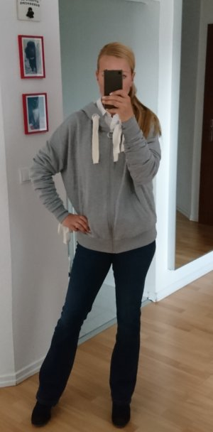 Topshop Sweatshirt blanc-gris clair