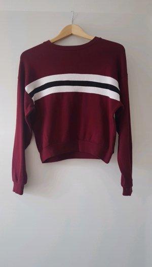 sweatshirt weinrot