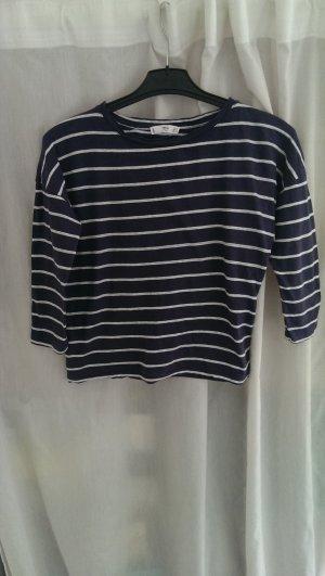 Sweatshirt weiß-blau gestreift