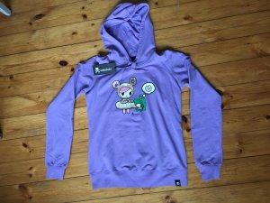 Hooded Sweatshirt purple mixture fibre