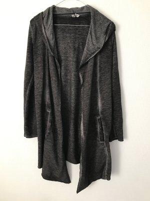 Sweatshirtjacke dunkelgrau