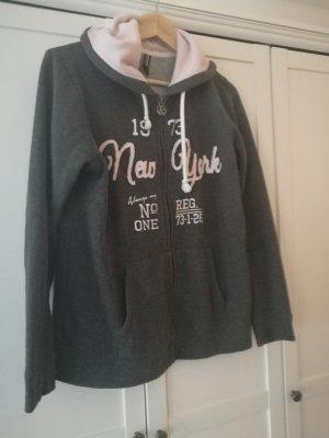 Sweatshirtjacke  Grau/Rosa