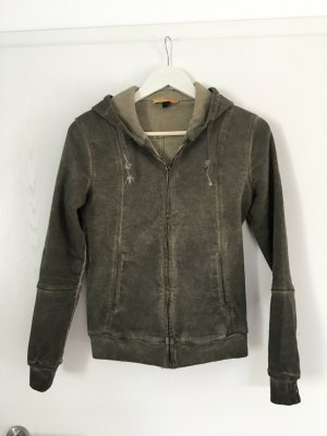 Sweatshirtjacke, HerzGold, grün, NEU