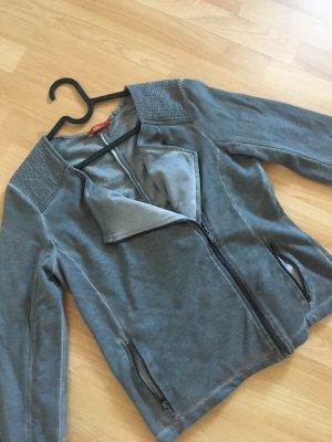 Sweatshirtjacke im used-Look