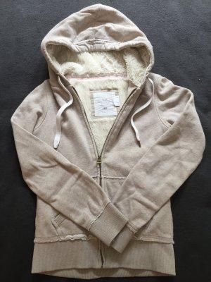 Sweatshirtjacke mit Fell