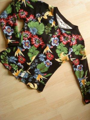 Sweatshirtjacke von Anna Field schwarz mit Blumen 40