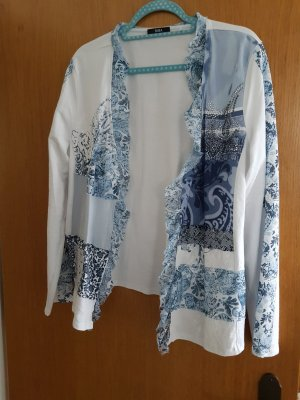 Biba Shirt Jacket white-cornflower blue