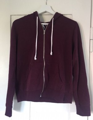 H&M Veste sweat rouge mûre