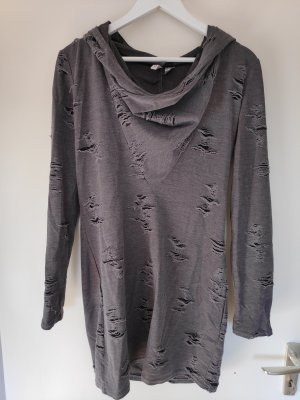 H&M Divided Sweat Dress dark grey
