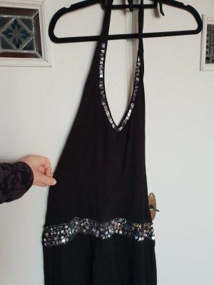 Trend T-shirt jurk zwart-zilver